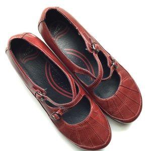 Dansko Leather Slip-On Loafer Dark Red Size 41